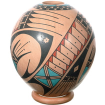 Hand Painted Paquimé Geometric Design Mata Ortiz Pottery 39302