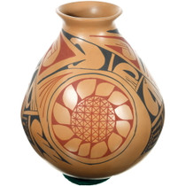 Mata Ortiz Polychrome Sunflower Pottery 39303