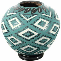 Mata Ortiz Green Diamonds Pottery 39309