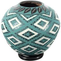 Mata Ortiz Green Diamonds Pottery 39309