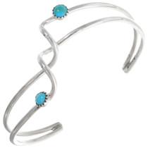 Zuni Turquoise Silver Wire Bracelet 39316
