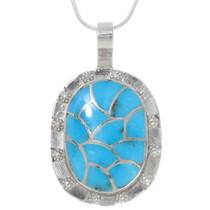 Zuni Inlay Turquoise Pendant 39318
