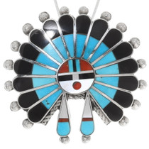 Native American Kachina Sunface Pendant 39320