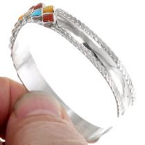 Turquoise Coral Shell Multistone Zuni Bracelet 39322