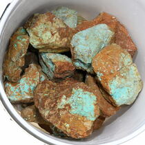 Large Number 8 Turquoise Rough Nuggets 37047