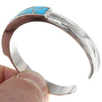 Ladies Native American Turquoise Silver Cuff Bracelet 39327