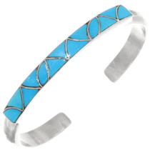 Zuni Sterling Silver Sleeping Beauty Turquoise Bracelet 39327