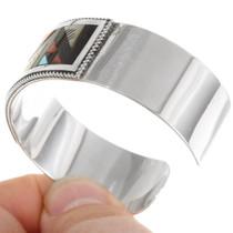 Zuni Inlaid Turquoise Shell Cuff Bracelet 39328