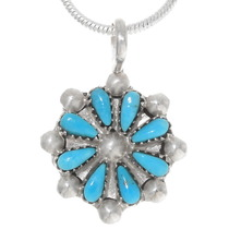 Sleeping Beauty Turquoise Silver Pendant 39330