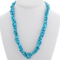 Old Pawn Natural Turquoise Nugget Necklace 39333