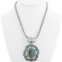Native American Turquoise Sterling Silver Pendant 39335