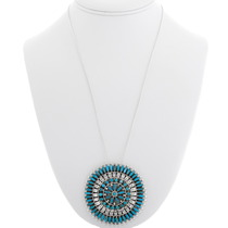 Arizona Turquoise Pendant Navajo Made Design 39336