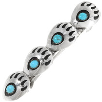 Sleeping Beauty Turquoise Bear Paw Hair Barrette 39337