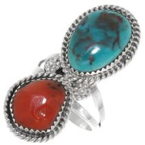 Navajo Bisbee Turquoise Ring 39642