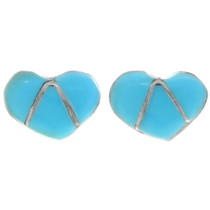 Turquoise Heart Earrings 39338
