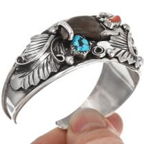 Sterling Sleeping Beauty Turquoise Bracelet Genuine Bear Claw 39341
