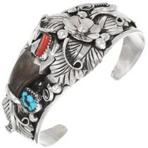 Navajo Bear Claw Cuff Bracelet 39341