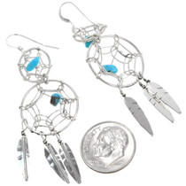 Navajo Turquoise Dreamcatcher Earrings 39348