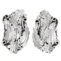 Native American Sterling Silver Earrings 39351