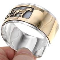 Sterling Silver 14K Gold Fill Navajo Bracelet 39354