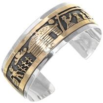 Navajo Storyteller Gold Cuff Bracelet 39354