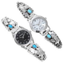 Turquoise Silver Navajo Watches 39360