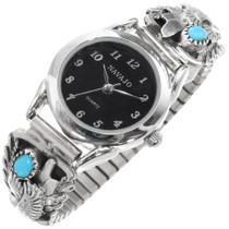 Ladies Turquoise Silver Eagle Watch 39360