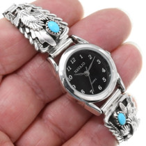 Sterling Silver Navajo Turquoise Watch 39360