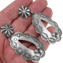 Large Southwest Sterling Silver Earrings 39362