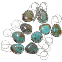 Sterling Silver Turquoise Key Chain 39363