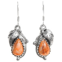 Sterling Silver Navajo Spiny Oyster Earrings 39365
