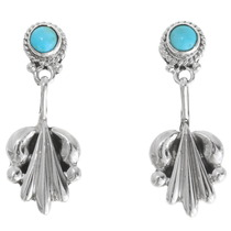 Turquoise Silver Post Earrings 39366