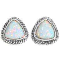 White Opal Post Earrings 39370