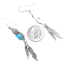 Sterling Silver Navajo Made Turquoise Earrings Artist Judy Largo 39371