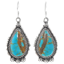 Number 8 Turquoise Earrings 39373