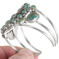 Navajo Sterling Silver Green Turquoise Bracelet 39379