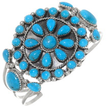 Navajo Turquoise Cluster Bracelet 39381