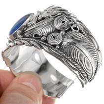 Sterling Silver Lapis Men's Bracelet 39382
