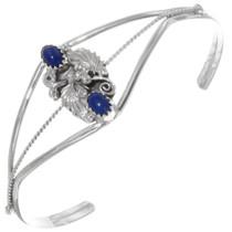 Silver Lapis Ladies Cuff Bracelet 39385