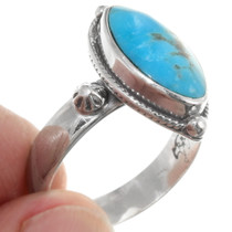 Kingman Turquoise Navajo Ladies Ring 39434