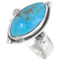 Sterling Silver Turquoise Ring 39434