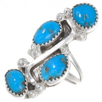 Native American Turquoise Ladies Ring 39391