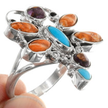 Spiny Oyster Turquoise Dragonfly Ring 39696