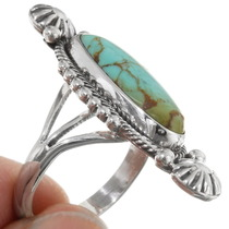 Navajo Sterling Silver Turquoise Ring 39397
