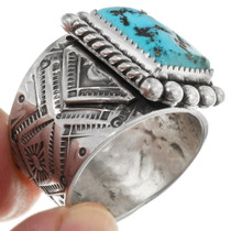Southwest Sterling Silver Arizona Turquoise Ring 39402