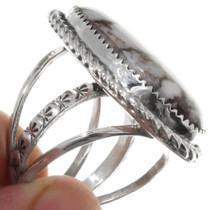 Sterling Silver Navajo Made Wild Horse Ring 39404