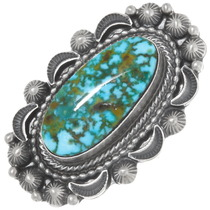 Kingman Red Spiderweb Turquoise Ring 39406