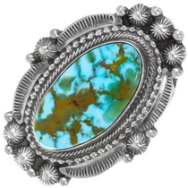 Gem Quality Spiderweb Turquoise Ring 39408