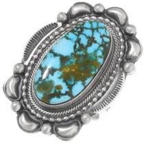 Spiderweb Turquoise Navajo Ring 39409