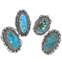 Ladies Native American Arizona Turquoise Rings 39409